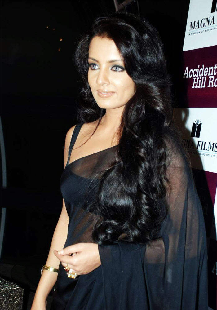 Celina Jaitly Looking Beautiful In Black Saree